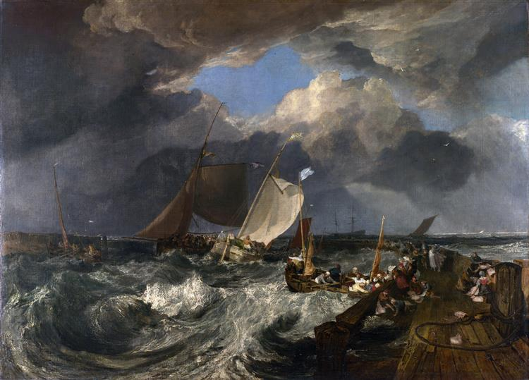Calais Pier, with French Poissards Preparing for Sea, an English Packeet Arriving, 1803 - J.M.W. Turner