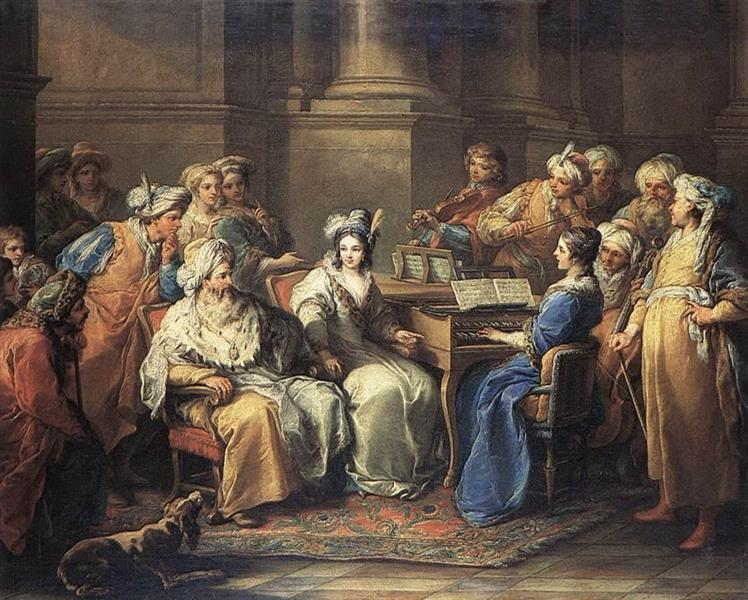 The Grand Turk Giving a Concert to His Mistress, 1737 - Шарль Андре Ван Лоо