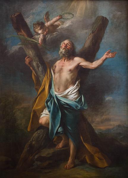 St. Andrew Embracing His Cross, c.1741 - Шарль Андре Ван Лоо