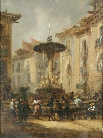 Fuente De Isabel Ii En La Calle De La Montera, 1835 - Jenaro Pérez Villaamil