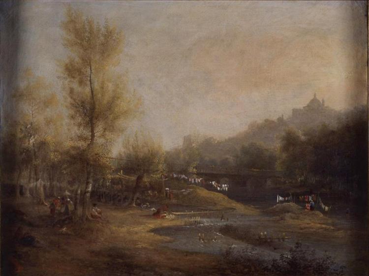 Las Lavanderas Del Manzanares, 1838 - Jenaro Pérez Villaamil