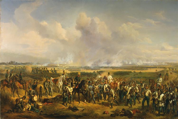 The Battle of Szeged, 1853 - Oswald Achenbach