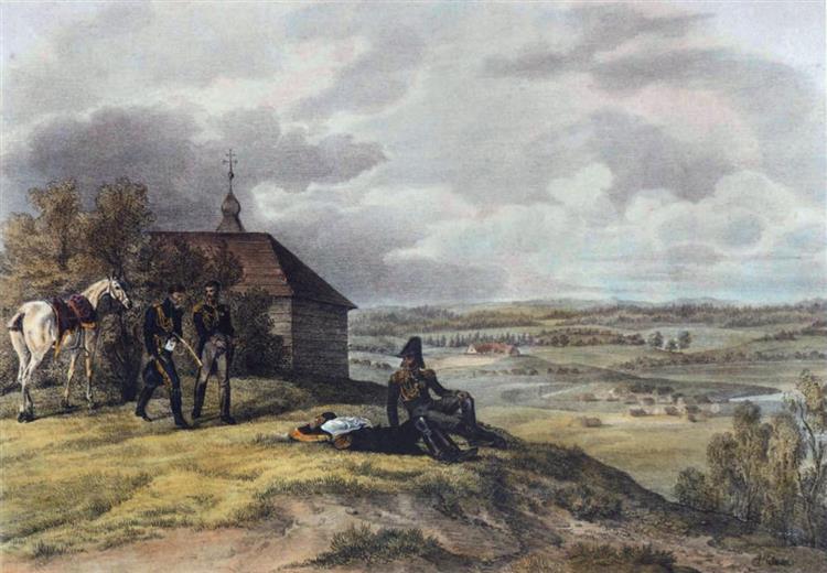 Rykonty, 3 July 1812, 1812 - Albrecht Adam