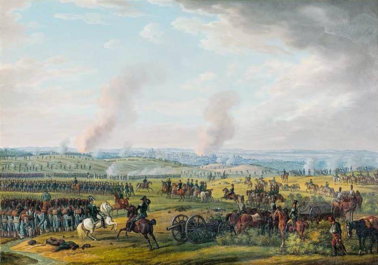 Vitebsk. Battle near the City, 1812 - Oswald Achenbach