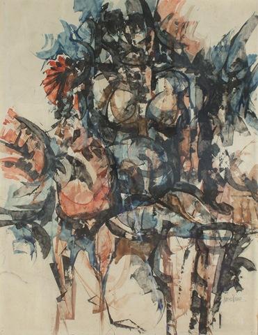 Mujer Con Gallo - Antonio Povedano