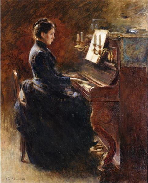 Girl at Piano, 1887 - Theodore Robinson