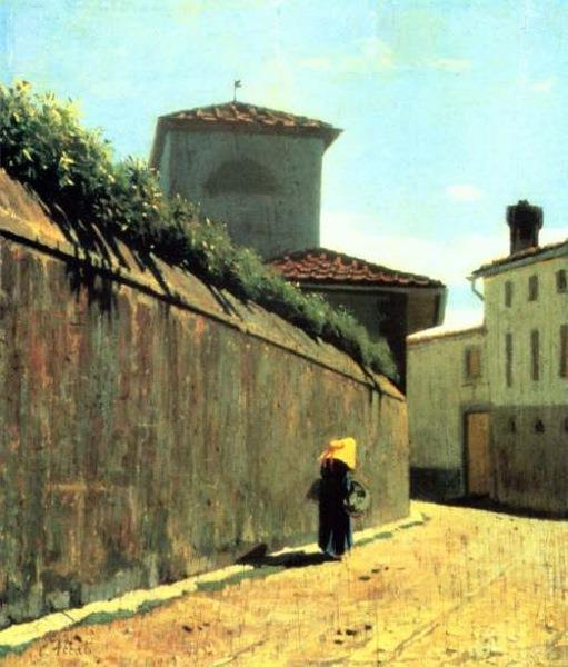 Street in the sun, 1863 - 1864 - Giuseppe Abbati