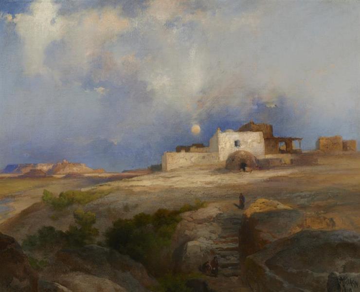 Laguna Pueblo, 1919 - Thomas Moran