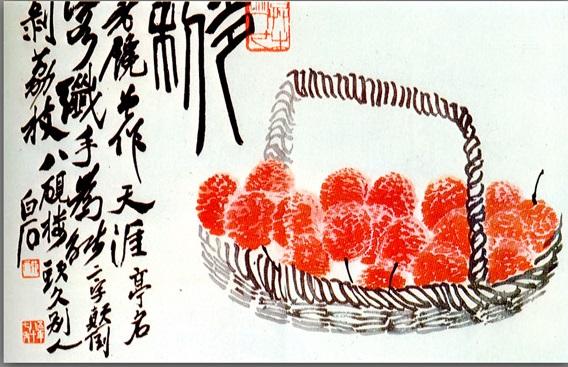 Lychee fruit, 1940 - Qi Baishi