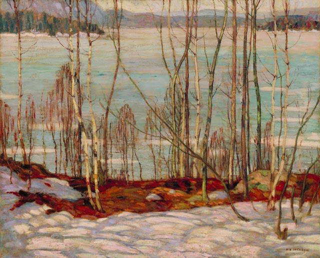Frozen Lake, Early Spring, Algonquin Park, 1914