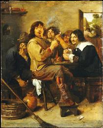 The Smokers - Adriaen Brouwer