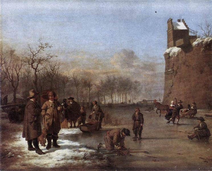 Amusement on the Ice, 1669 - Adriaen van de Velde