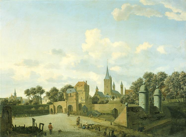The church of St. Severin in Cologne in a fictive setting, 1660 - 1672 - Adriaen van de Velde