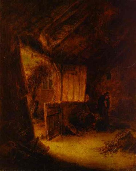 In a Barn, 1639 - Adriaen van Ostade