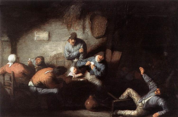 Inn Scene, c.1635 - Адриан ван Остаде