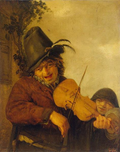 Wandering Musician, 1648 - Адриан ван Остаде