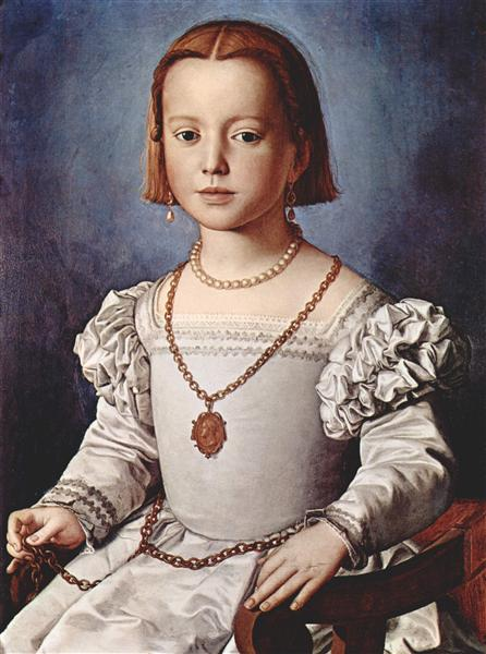 Portrait of Bia de' Medici, 1542 - Agnolo Bronzino