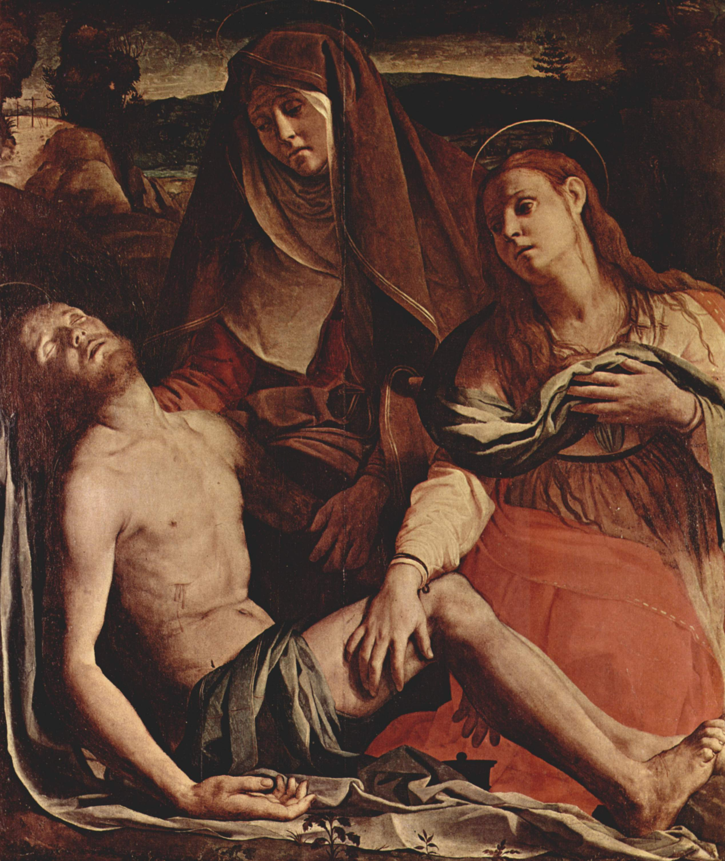 The Dead Christ with the Virgin and St. Mary Magdalene, 1530