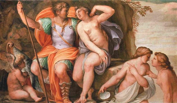 Venus and Mars, 1600 - Agostino Carracci