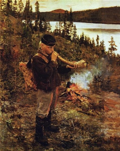 Shepherd Boy from Paanajärvi, 1892 - Akseli Gallen-Kallela
