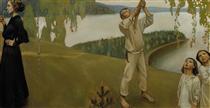 Spring, study for the Jusélius Mausoleum frescos - Akseli Gallen-Kallela