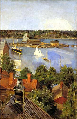 View from North Quay, 1891 - Akseli Gallen-Kallela