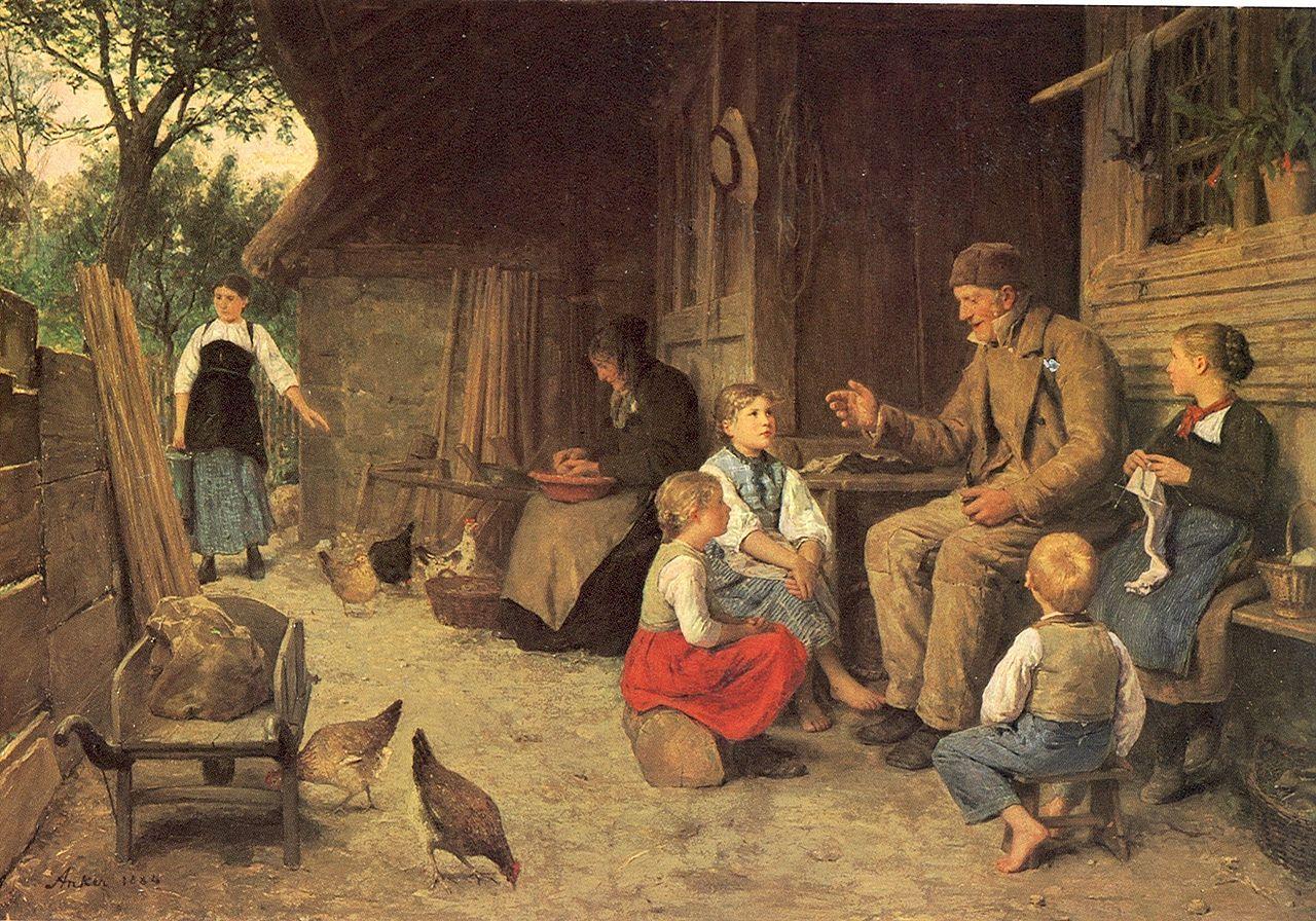 Der Grossvater erzählt eine Geschichte, 1884