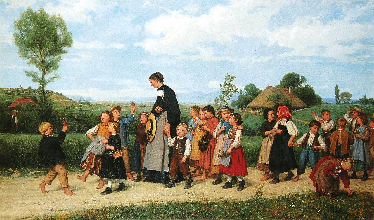 Der Schulspaziergang, 1872