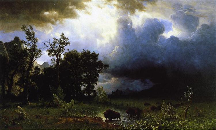 Buffalo Trail the Impending Storm, 1869 - Альберт Бірштадт