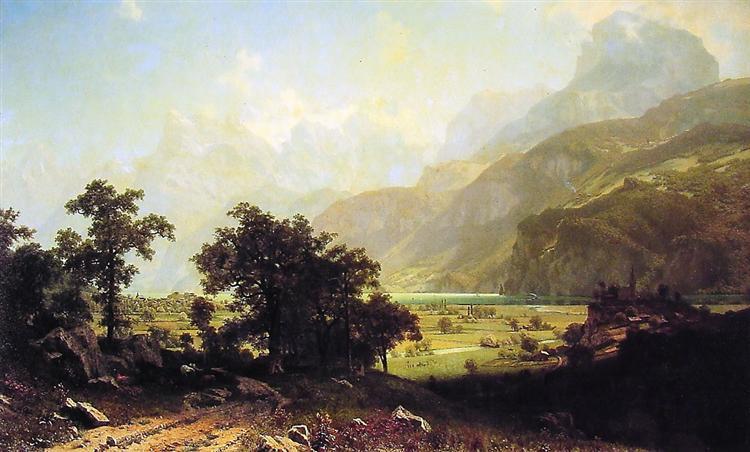Lake Lucerne, Switzerland, 1858 - Альберт Бірштадт