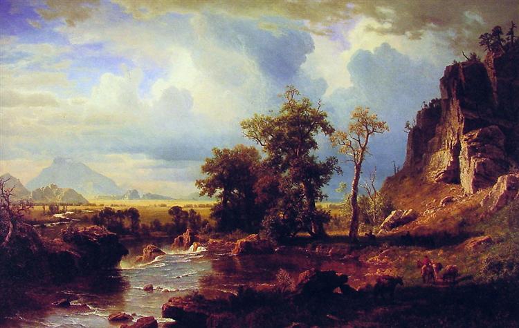 North Fork of the Platte Nebraska, 1863 - Albert Bierstadt
