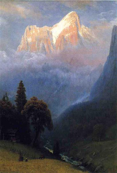 Storm Among the Alps, c.1856 - Альберт Бірштадт