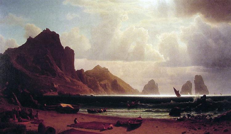 The Marina Piccola, Capri, 1859 - Альберт Бирштадт