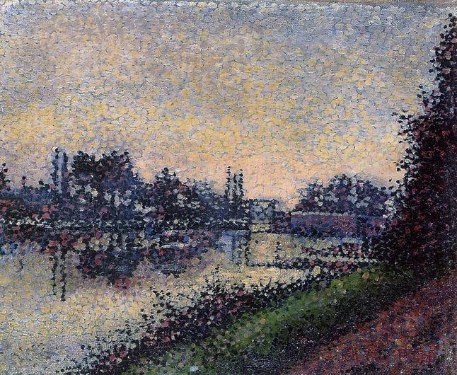 Landscape with a Lock, 1885 - Albert Dubois-Pillet