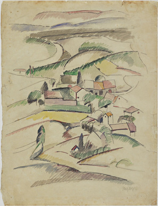 Houses in a Valley, 1910 - Альбер Глез