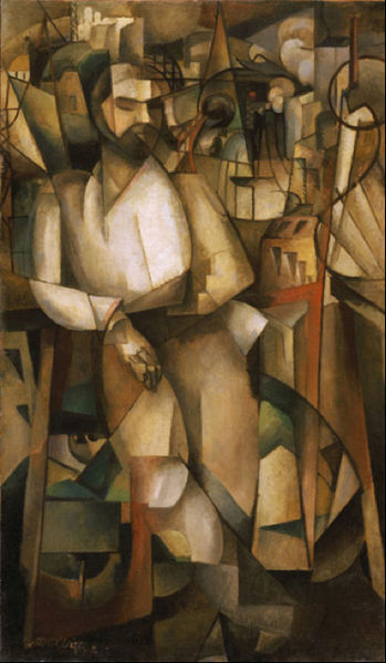Man on a Balcony (Portrait of Dr. Théo Morinaud), 1912 - Albert Gleizes