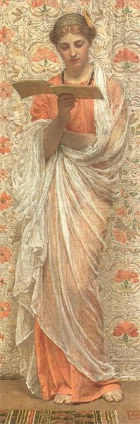 A Reader, c.1877 - Альберт Джозеф Мор