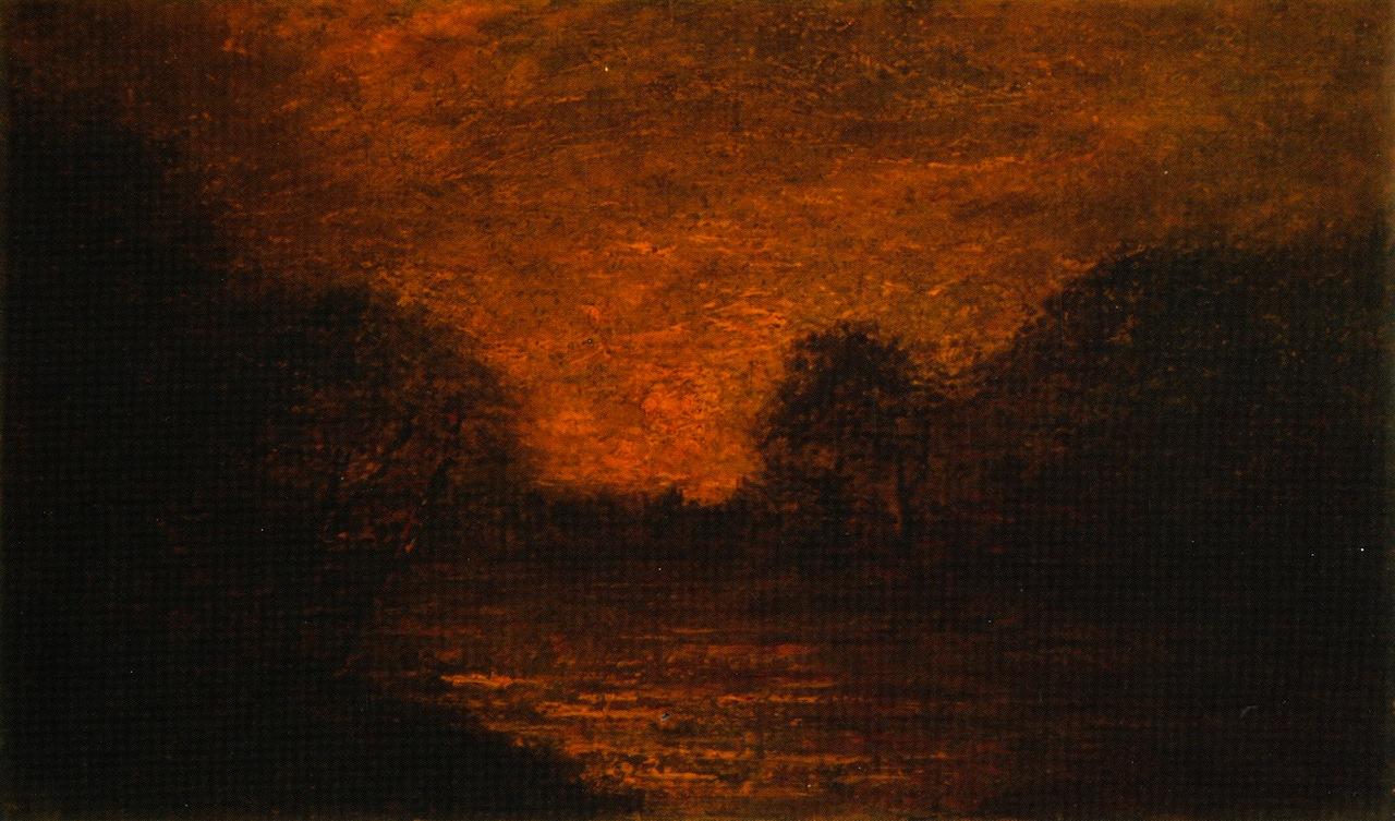 Pond in Moonlight