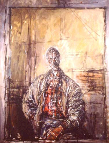 Diego in a Plaid Shirt - Alberto Giacometti
