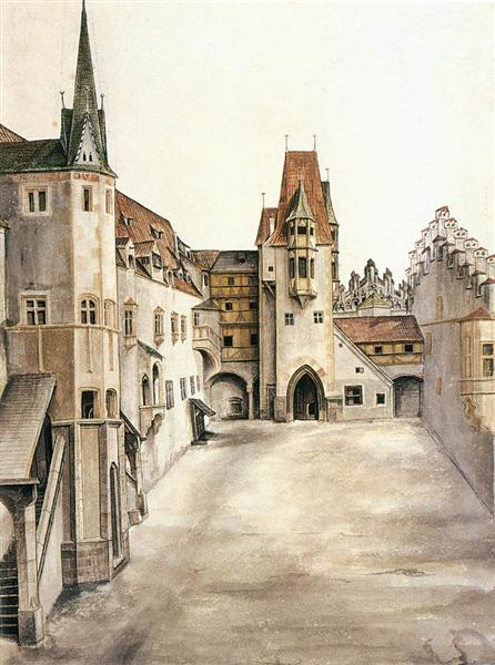 Courtyard of the Former Castle in Innsbruck without Clouds, c.1494 - Albrecht Durer