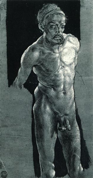 Nude Self-portrait, c.1503 - 1505 - Albrecht Durer