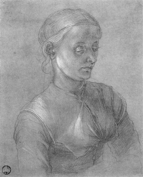 Portrait of a woman (Agnes Dürer), c.1497 - Albrecht Durer