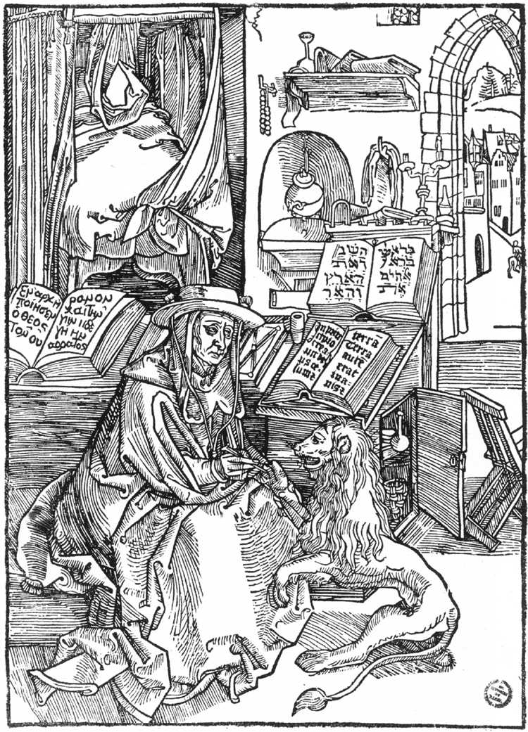 A woodblock of St. Jerome in his Cell surfaced with Albrecht Durer's name carved on the back of the block and dated 1492.