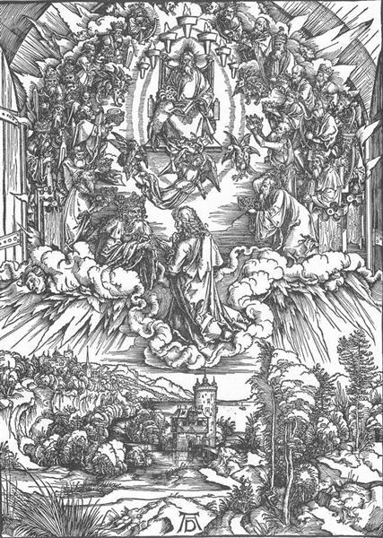 St John and the Twenty four Elders in Heaven, 1497 - 1498 - Albrecht Durer