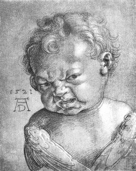Weeping Angel boy, 1521 - Albrecht Durer