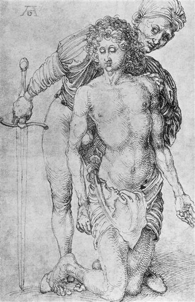 Youth with executioner, c.1493 - Albrecht Durer