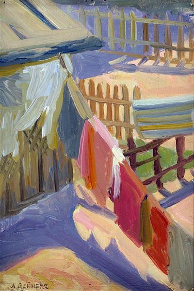 Yard. Board, c.1920 - c.1930 - Aleksandr Deyneka