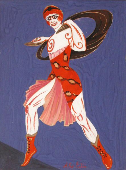 Costume design for theatre Moscow, 1916 - Aleksandra Ekster