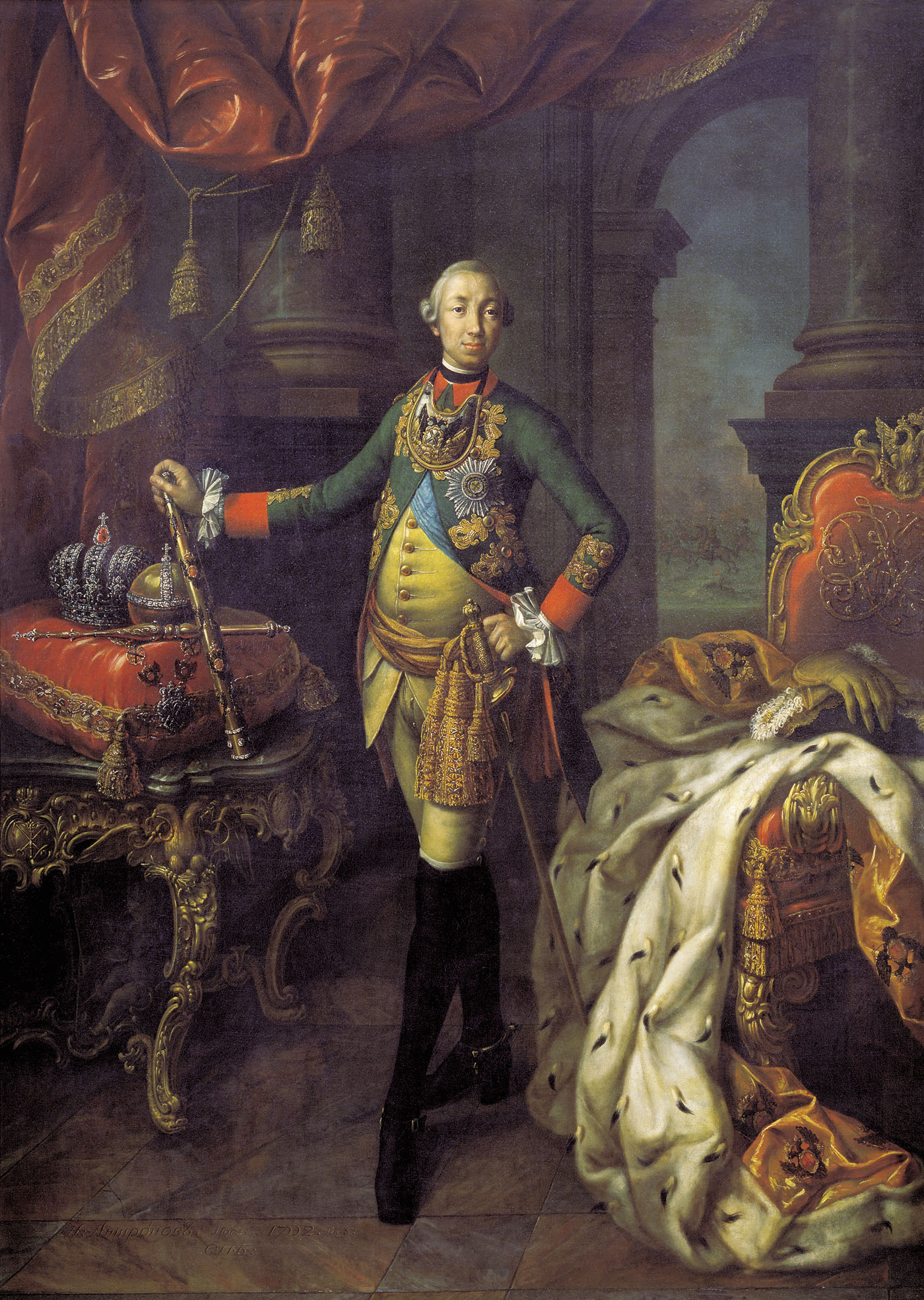 Portrait of tsar peter iii (1728-62)