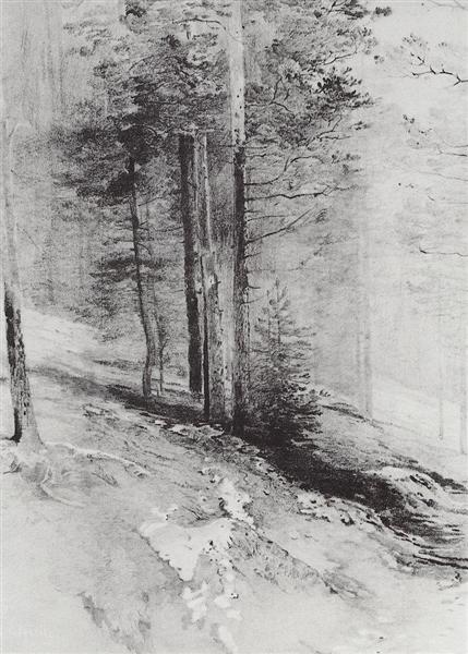 Forest, 1877 - Alexei Kondratjewitsch Sawrassow